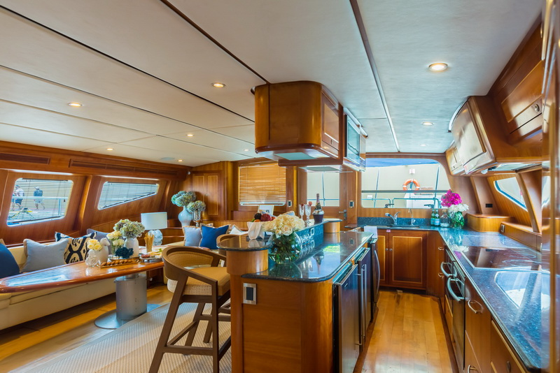 Kitchen of the yacht