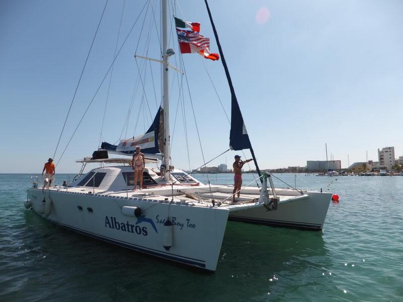 Cancun sailing booze cruise catamaran adult only tour