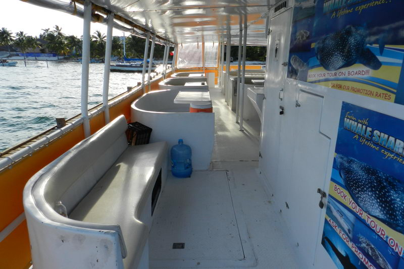 Catamaran with Couch on low level
