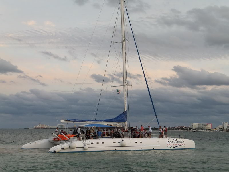 biggest catamaran in Cancun