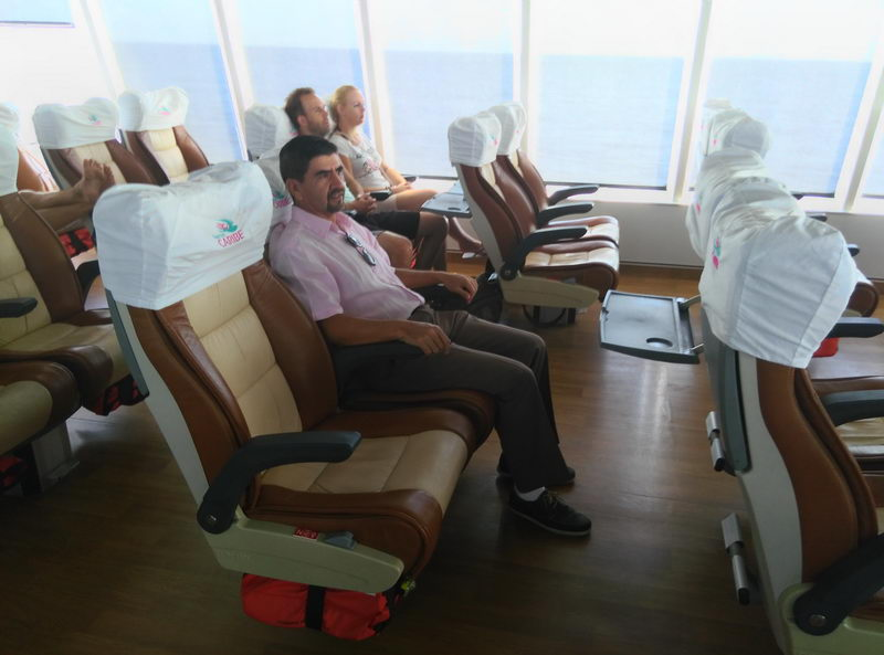 crossing to Cozumel on comfortable boat