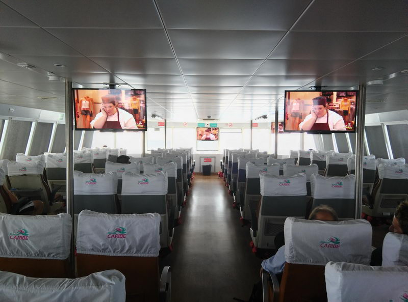 Shuttle boat Crossing Cozumel Island