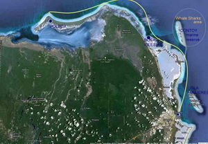 Sailing and yachting Cancun Map