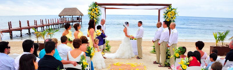 Maroma Beach Wedding Catamaran Ceremony Bridal