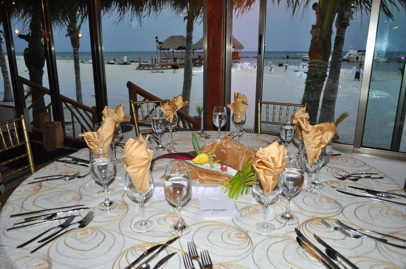 Maroma private beach restaurant and events